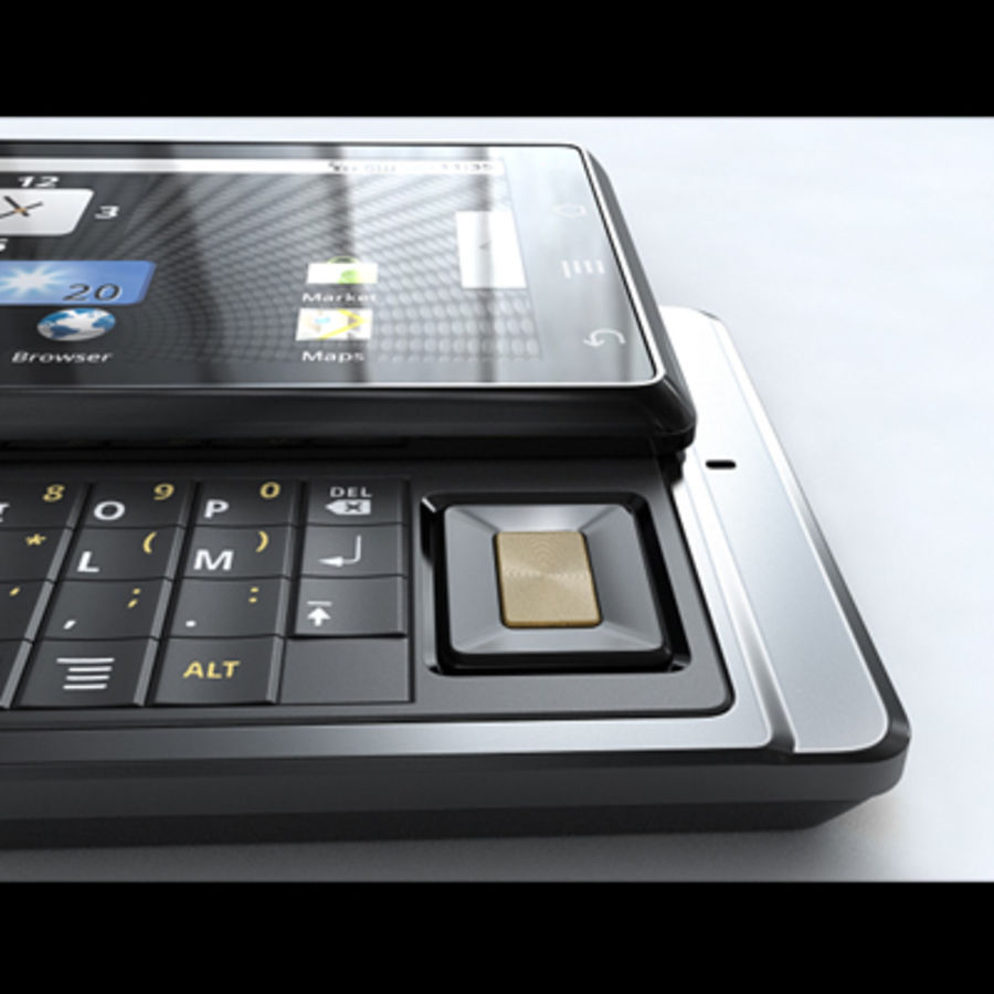 Motorola Milestone royalty-free 3d model - Preview no. 28