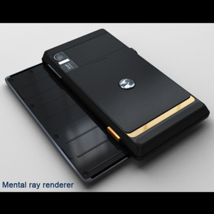 Motorola Milestone royalty-free 3d model - Preview no. 36