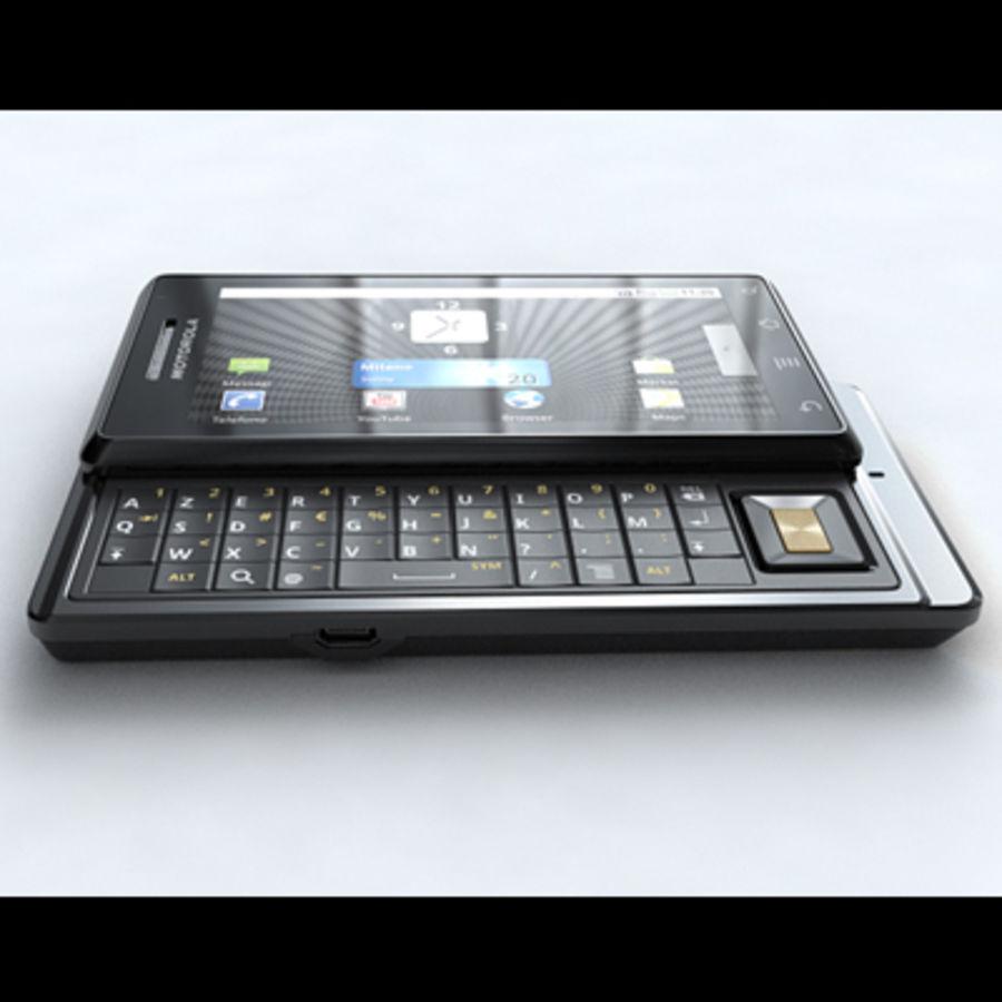 Motorola Milestone royalty-free 3d model - Preview no. 5