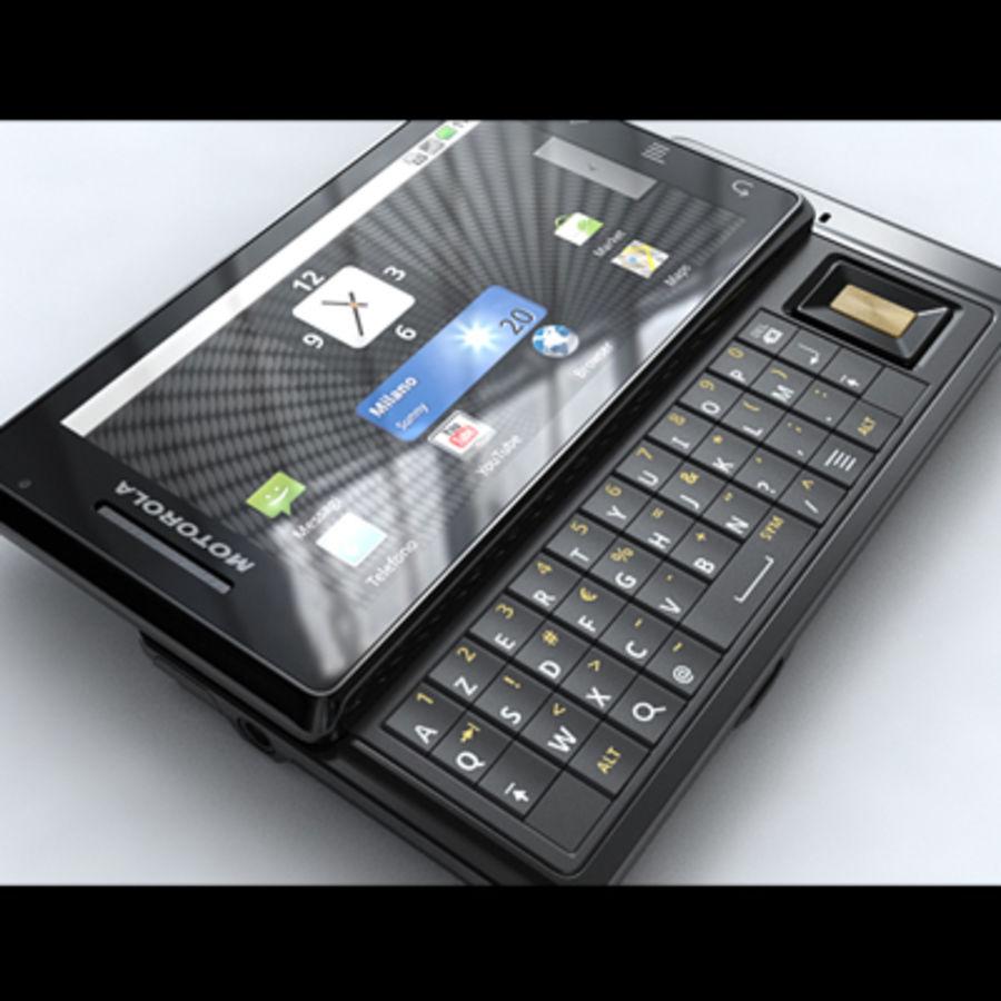 Motorola Milestone royalty-free 3d model - Preview no. 6