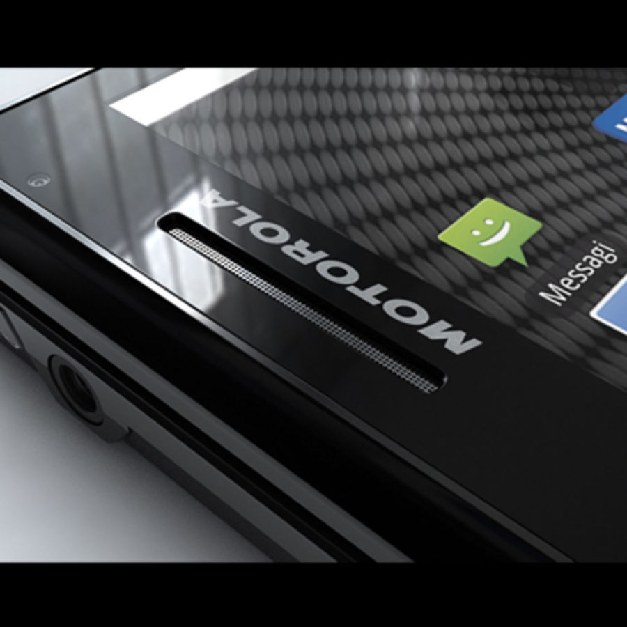 Motorola Milestone royalty-free 3d model - Preview no. 31