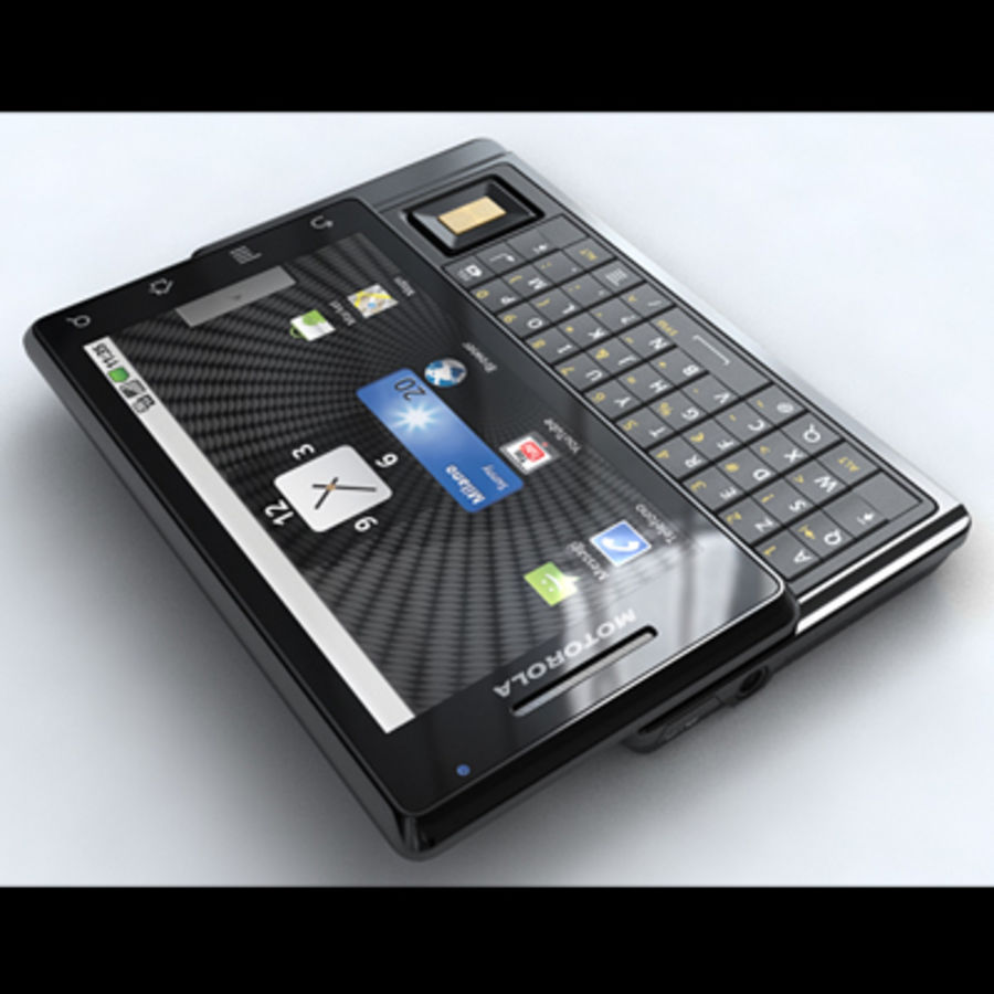 Motorola Milestone royalty-free 3d model - Preview no. 2