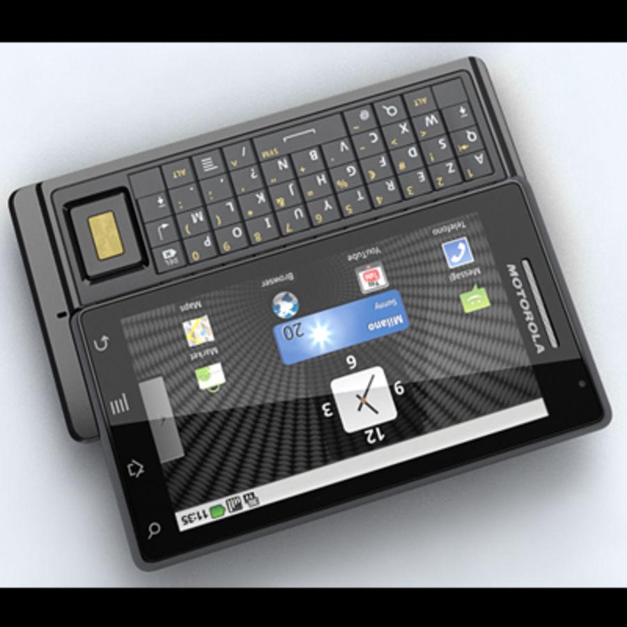 Motorola Milestone royalty-free 3d model - Preview no. 7