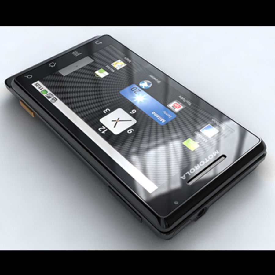 Motorola Milestone royalty-free 3d model - Preview no. 9