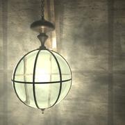 Латунная лампа 3d model