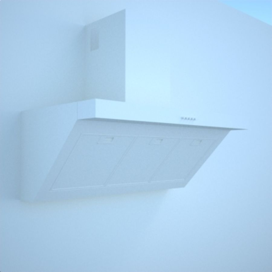 Kitchen hood royalty-free 3d model - Preview no. 4