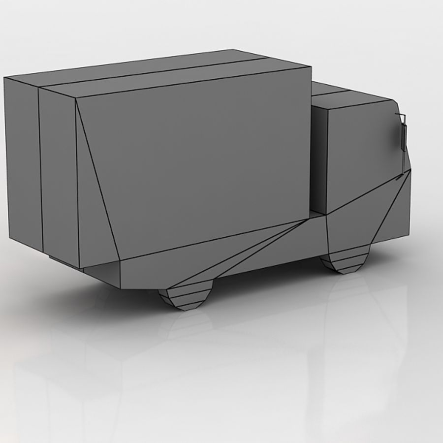 ISUZU NLR85A lowpoly royalty-free modelo 3d - Preview no. 5