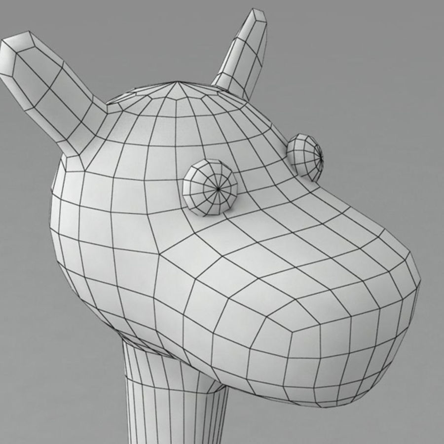 Giraffe royalty-free 3d model - Preview no. 8