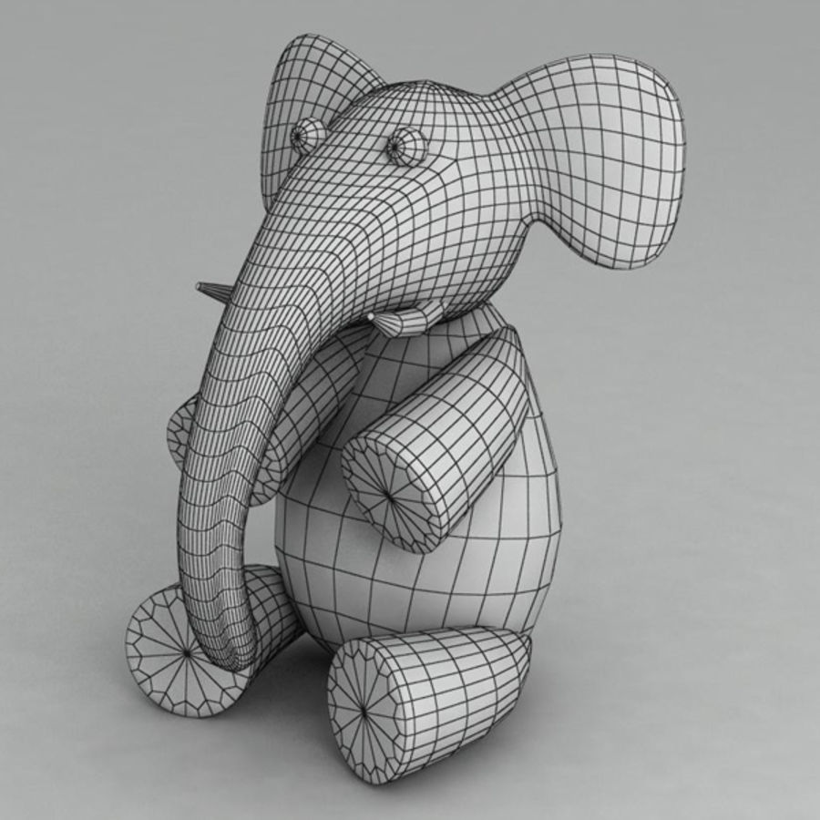 Elephant toy royalty-free 3d model - Preview no. 5