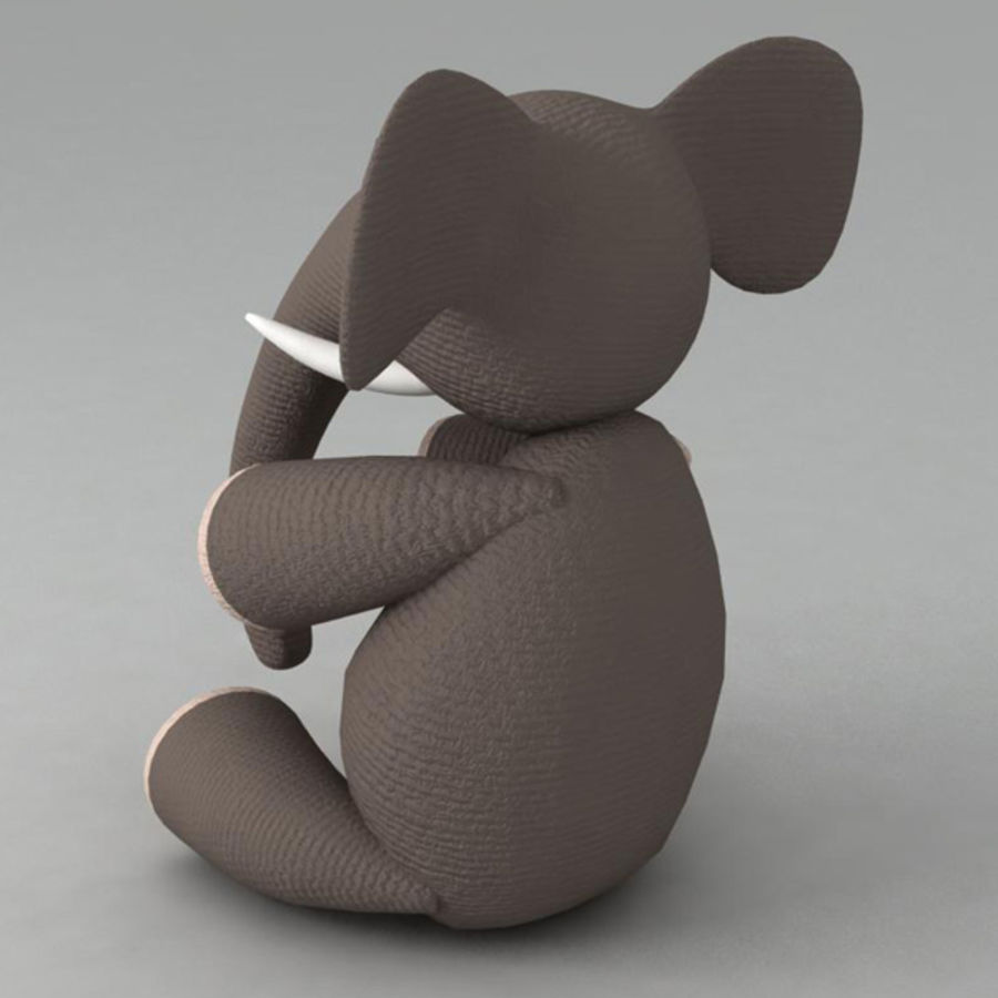 Elephant toy royalty-free 3d model - Preview no. 2