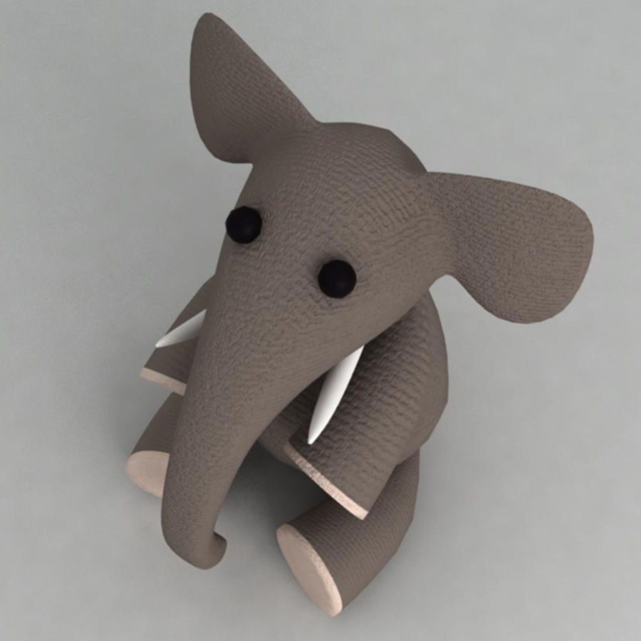 Elephant toy royalty-free 3d model - Preview no. 3