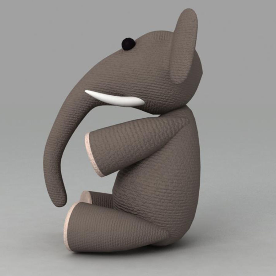 Elephant toy royalty-free 3d model - Preview no. 6