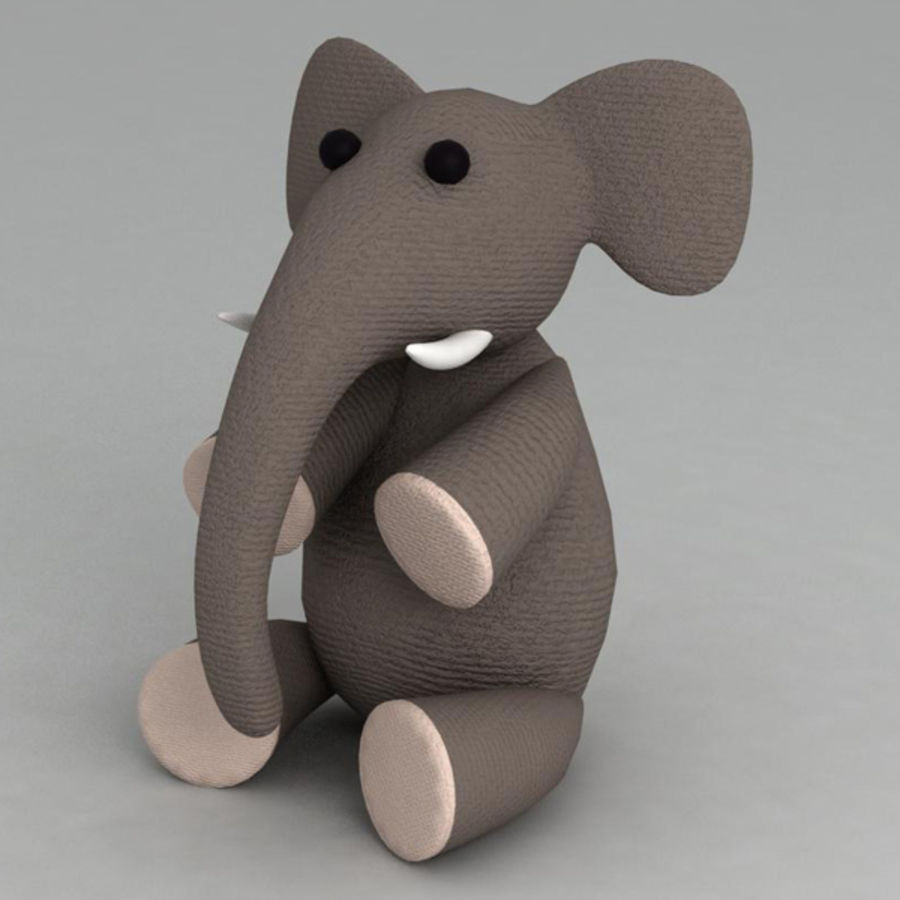 Elephant toy royalty-free 3d model - Preview no. 1