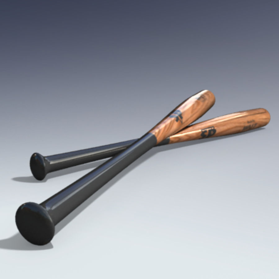 Baseball Bat royalty-free 3d model - Preview no. 4