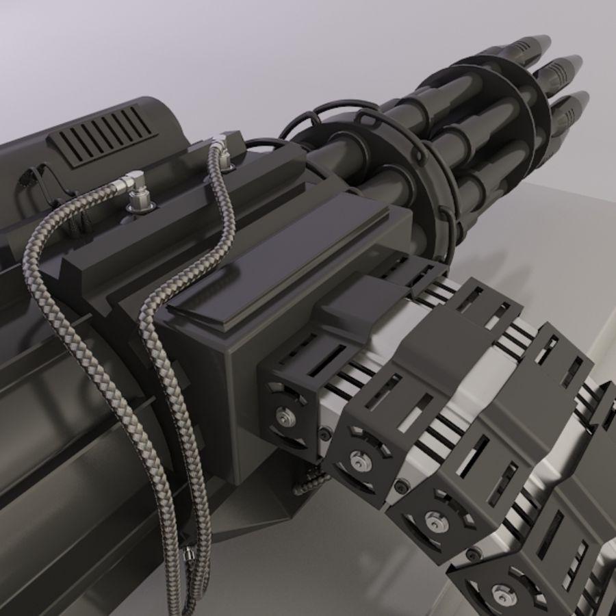 Gatling Gun - 3ds Max2010 - Raio Mental royalty-free 3d model - Preview no. 2