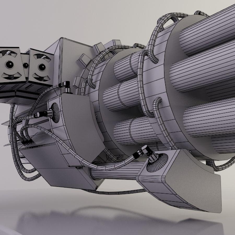 Gatling Gun - 3ds Max2010 - Raio Mental royalty-free 3d model - Preview no. 12