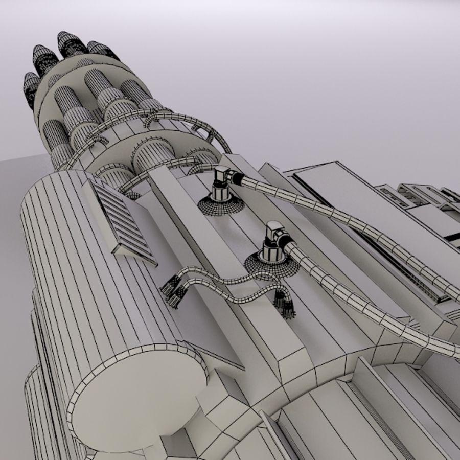 Gatling Gun - 3ds Max2010 - Raio Mental royalty-free 3d model - Preview no. 10