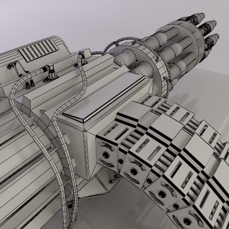 Gatling Gun - 3ds Max2010 - Raio Mental royalty-free 3d model - Preview no. 11