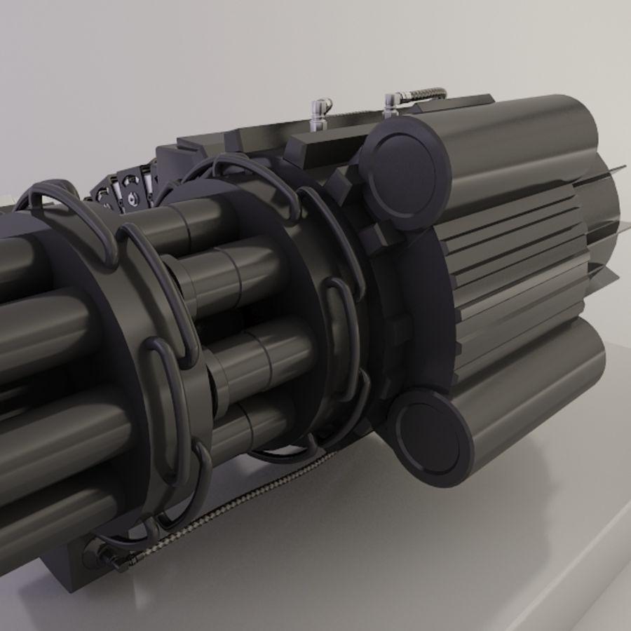 Gatling Gun - 3ds Max2010 - Raio Mental royalty-free 3d model - Preview no. 7