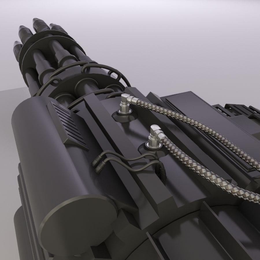 Gatling Gun - 3ds Max2010 - Raio Mental royalty-free 3d model - Preview no. 6