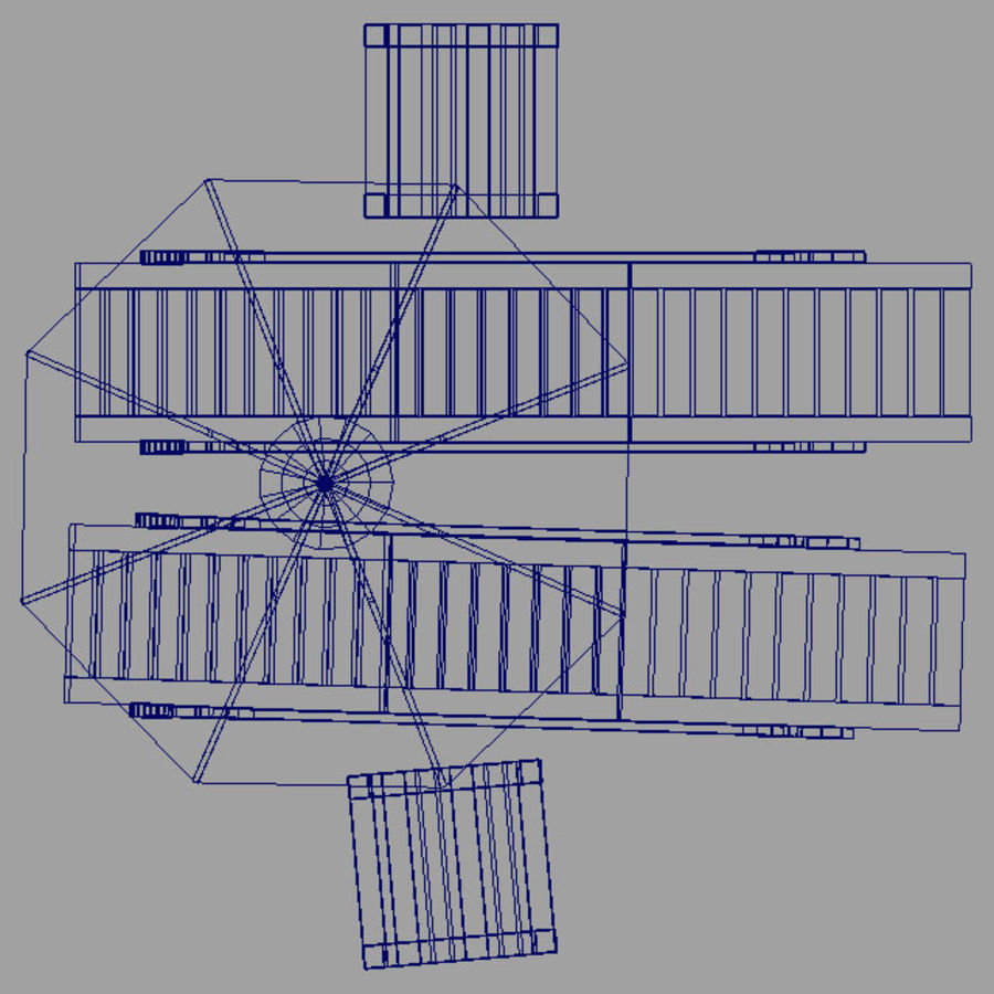 Sunbed_wooden royalty-free 3d model - Preview no. 5