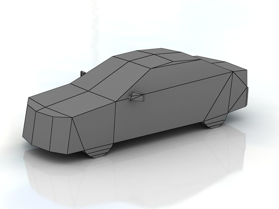 Honda Accord LowPoly royalty-free 3d model - Preview no. 3