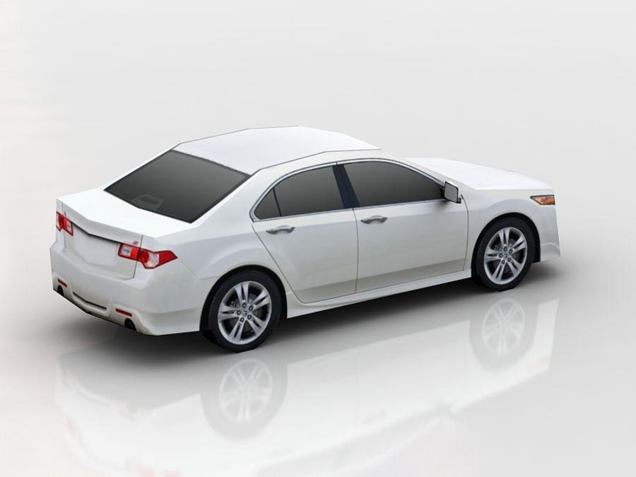 Honda Accord LowPoly royalty-free 3d model - Preview no. 4