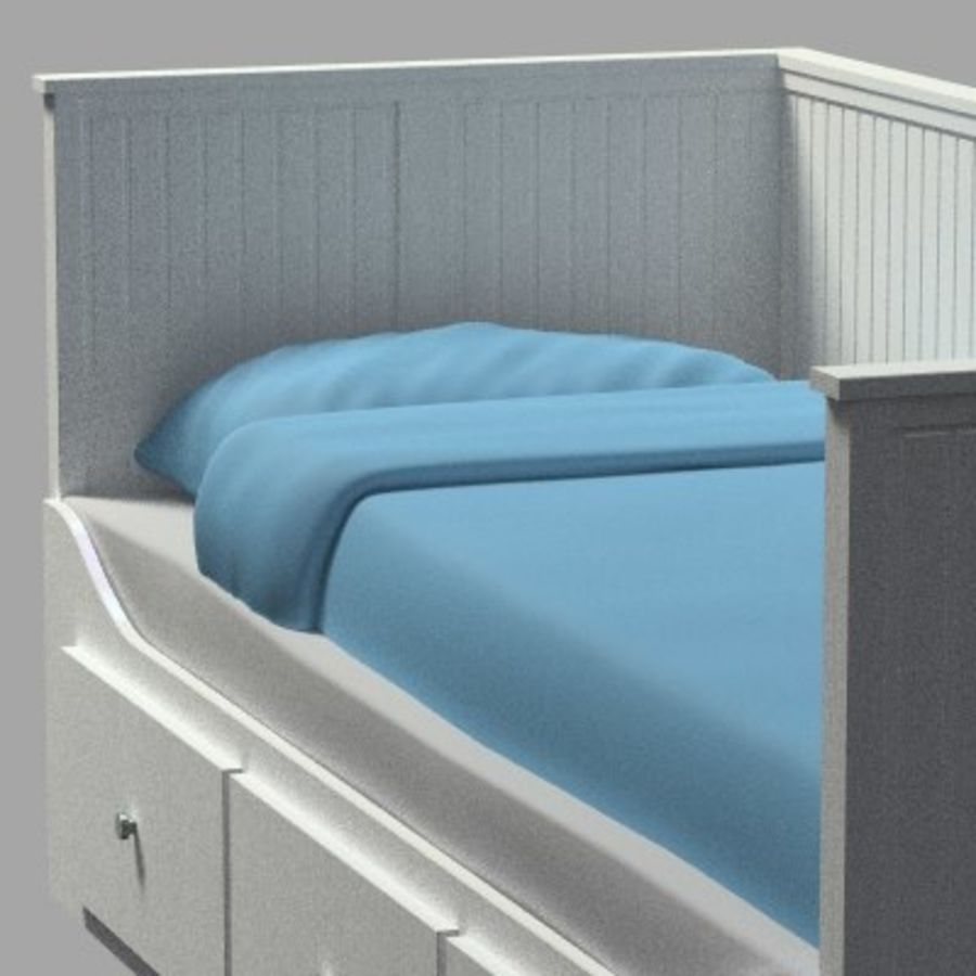 Bed Hemnes Ikea royalty-free 3d model - Preview no. 1
