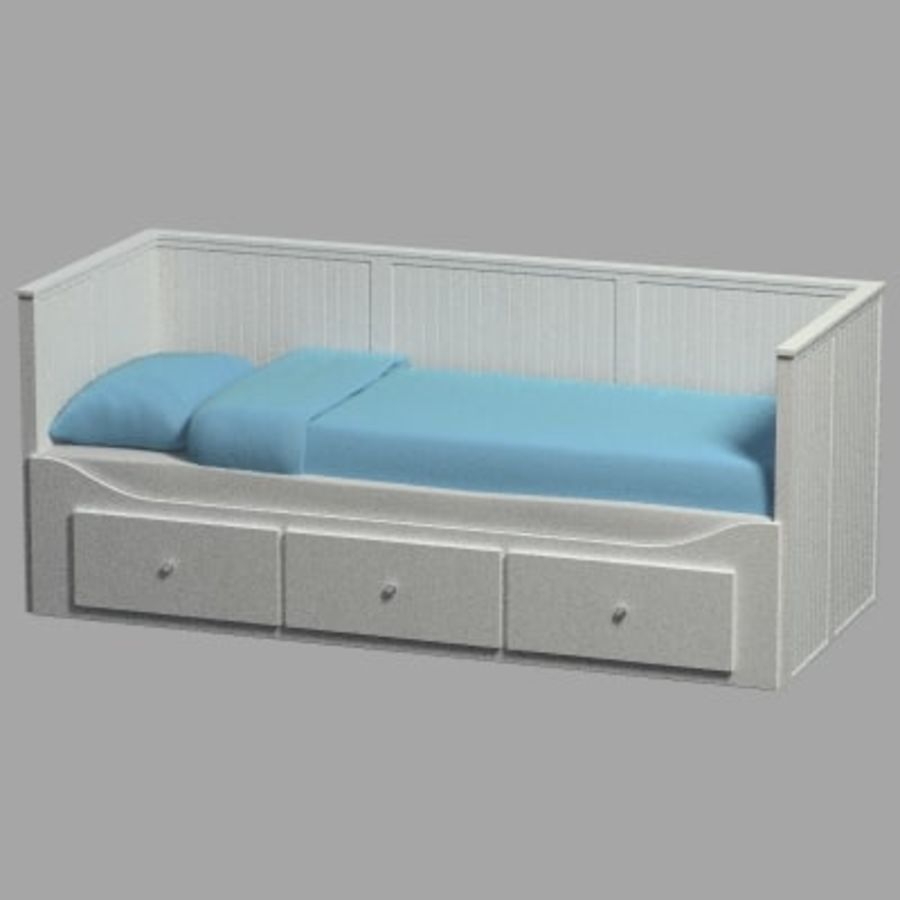 Łóżko Hemnes Ikea royalty-free 3d model - Preview no. 2