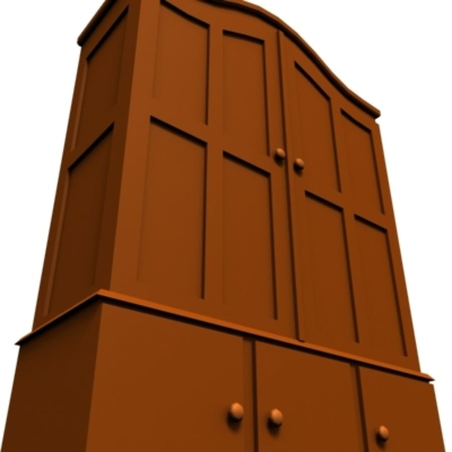 cupboard 002 royalty-free 3d model - Preview no. 5