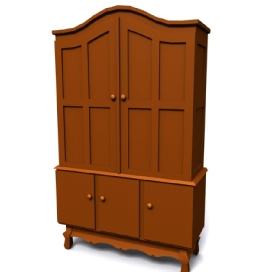 cupboard 002 royalty-free 3d model - Preview no. 2