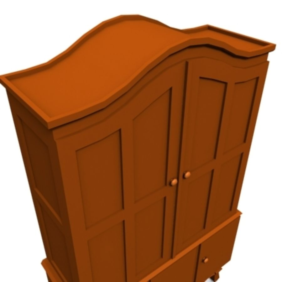 cupboard 002 royalty-free 3d model - Preview no. 4