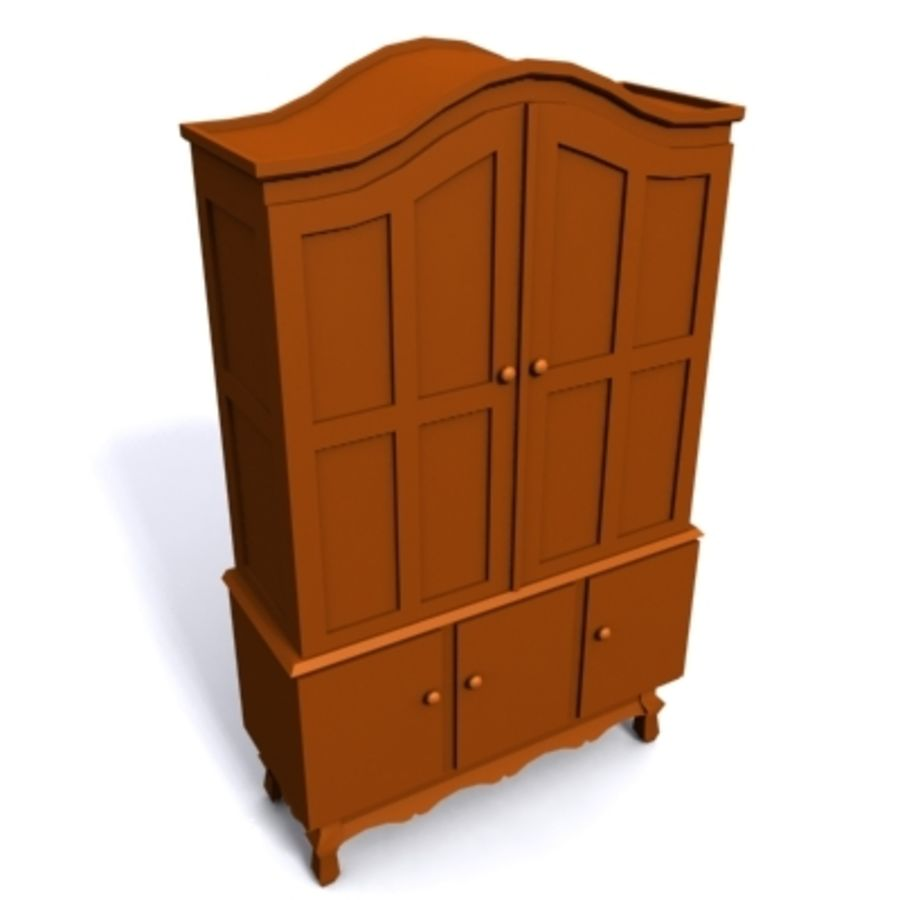 cupboard 002 royalty-free 3d model - Preview no. 1