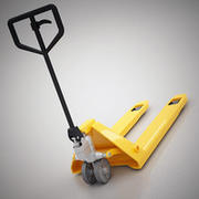 Warehouse pallet jack 3d model
