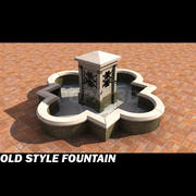 old style fountain 3d model