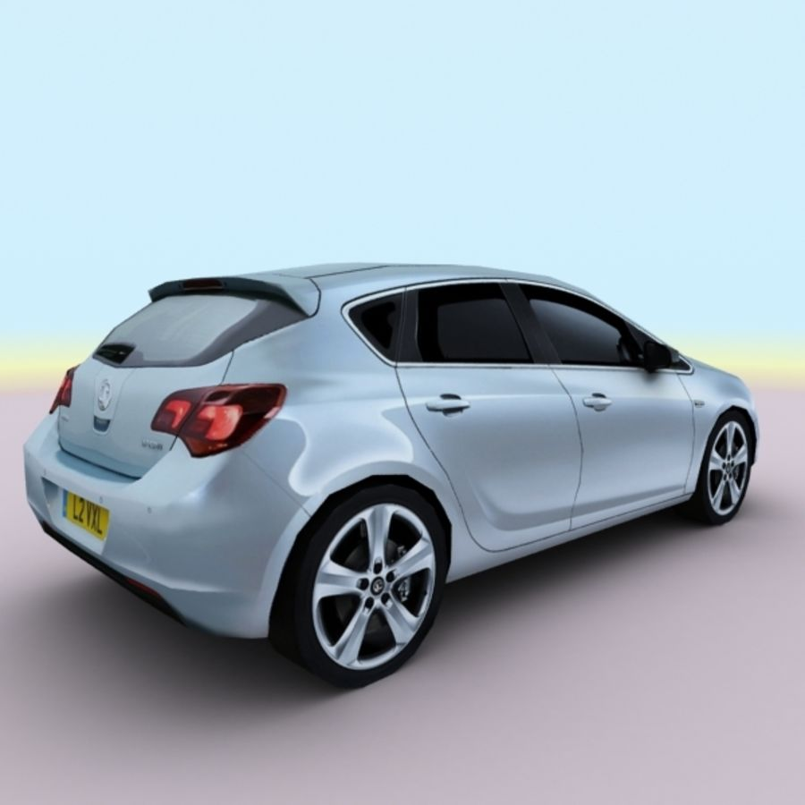 2010 Opel Astra royalty-free 3d model - Preview no. 8