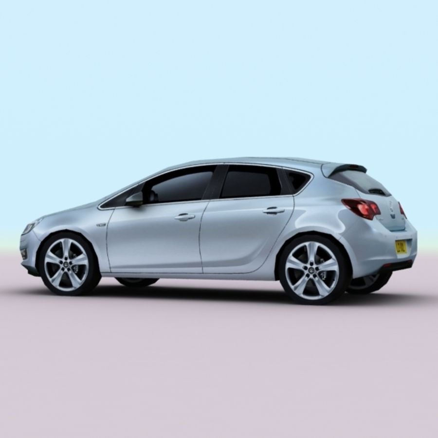 2010 Opel Astra royalty-free 3d model - Preview no. 4