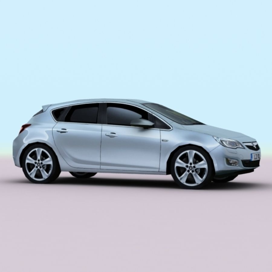 2010 Opel Astra royalty-free 3d model - Preview no. 5