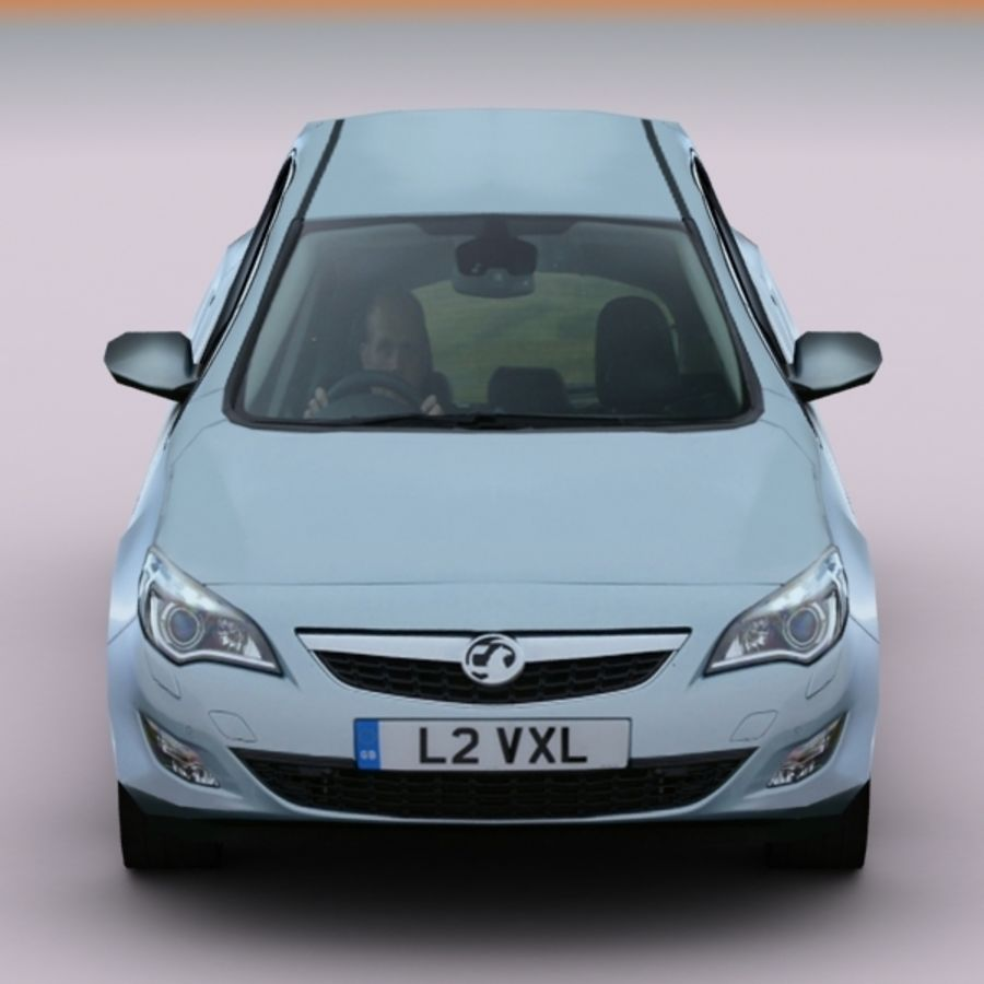 2010 Opel Astra royalty-free 3d model - Preview no. 6