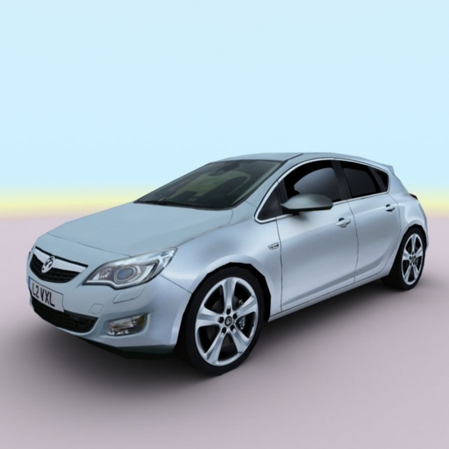2010 Opel Astra royalty-free 3d model - Preview no. 1