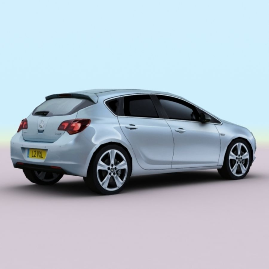 2010 Opel Astra royalty-free 3d model - Preview no. 2