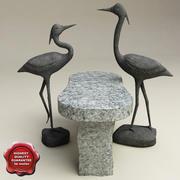 Heron statues 3d model