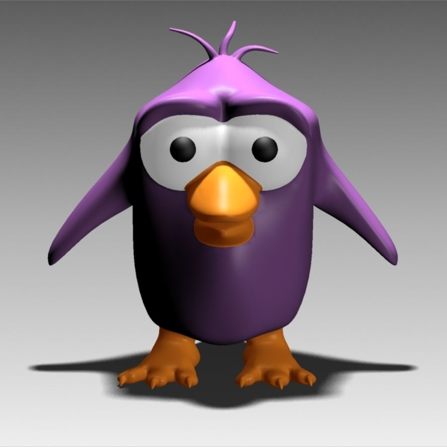 Gary The Penguin royalty-free 3d model - Preview no. 2