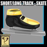 Short Long Track Skates 3d model