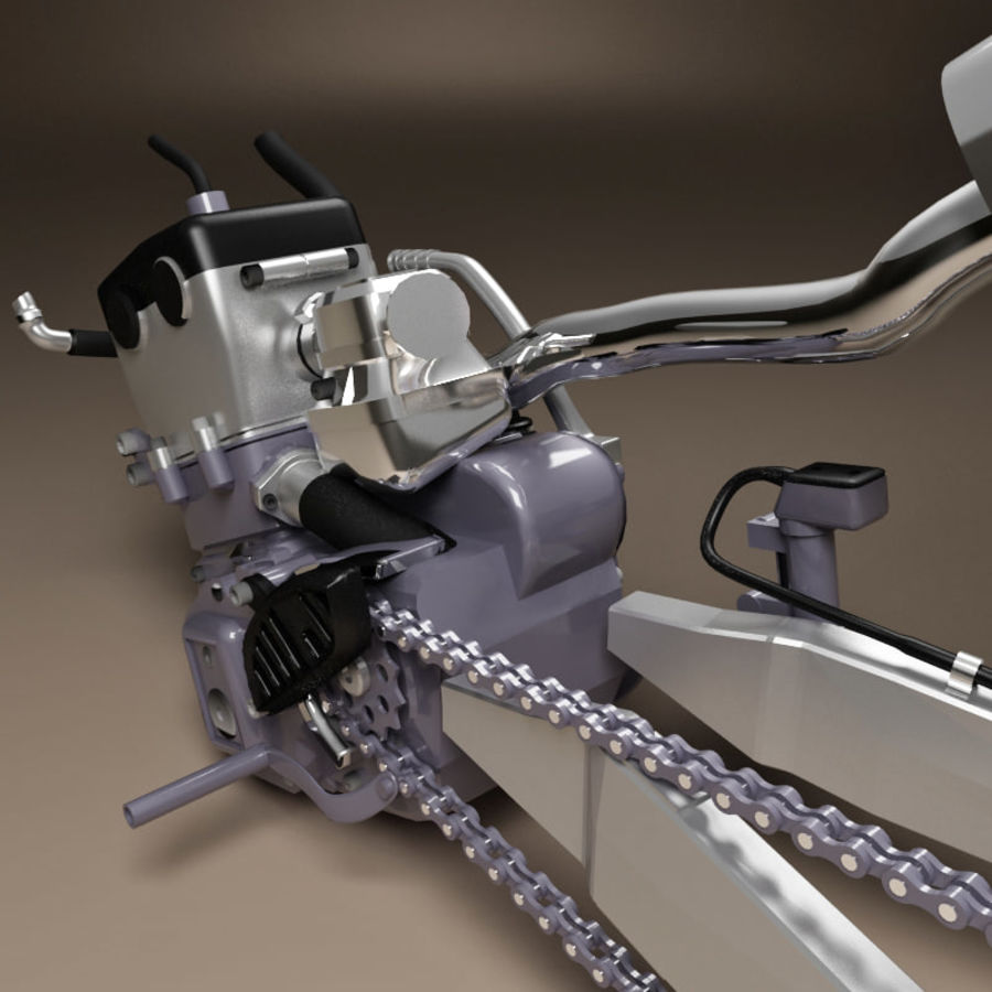 Motorbike engine V2 royalty-free 3d model - Preview no. 13