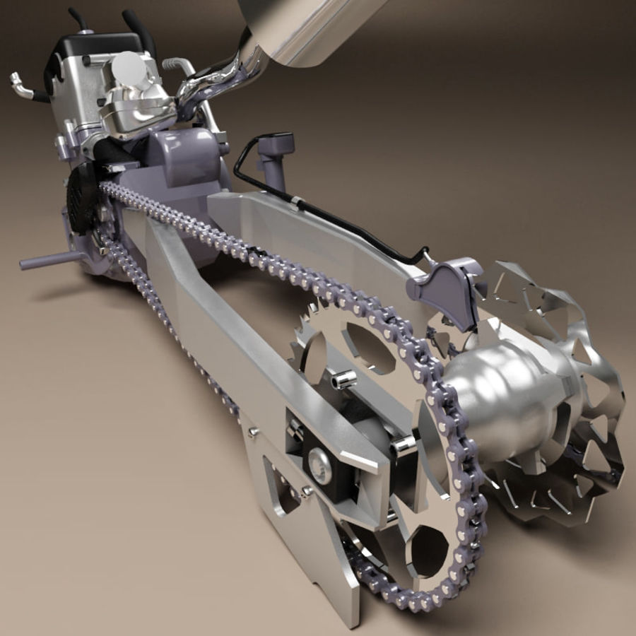 Motorbike engine V2 royalty-free 3d model - Preview no. 19