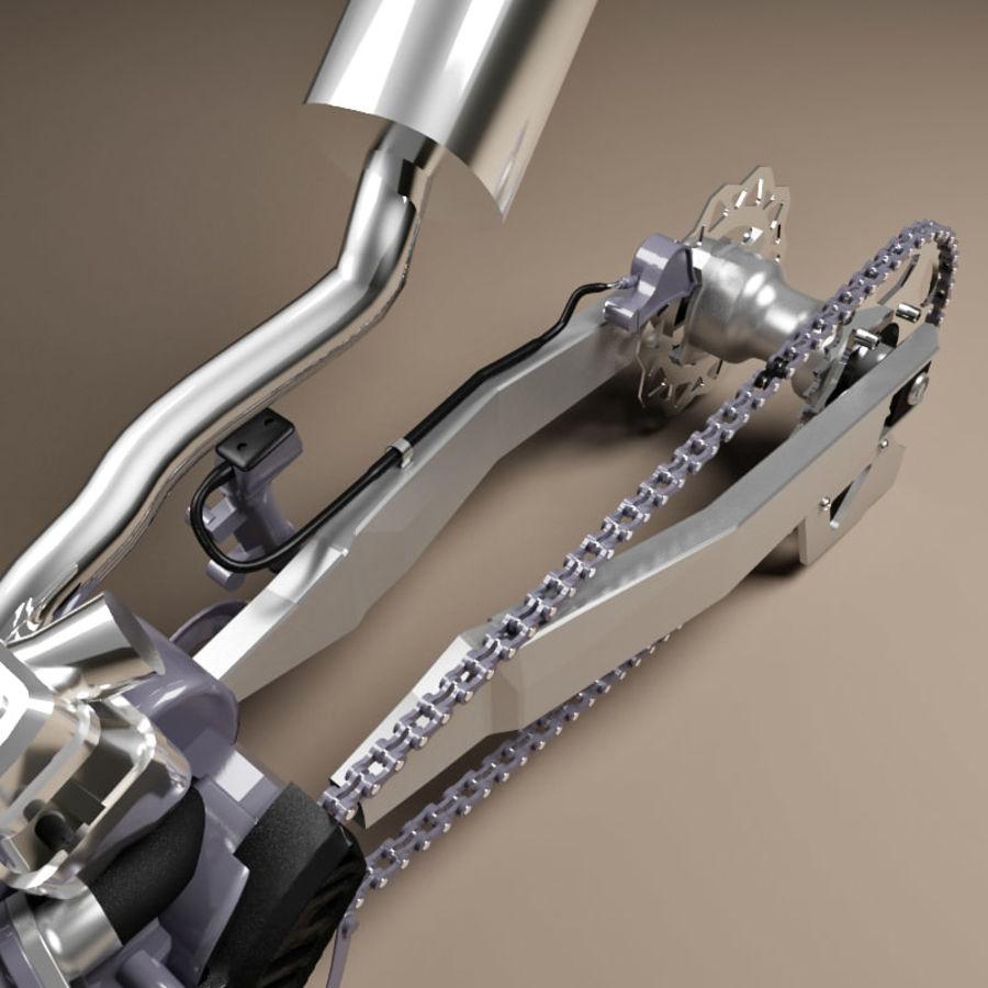 Motorbike engine V2 royalty-free 3d model - Preview no. 16