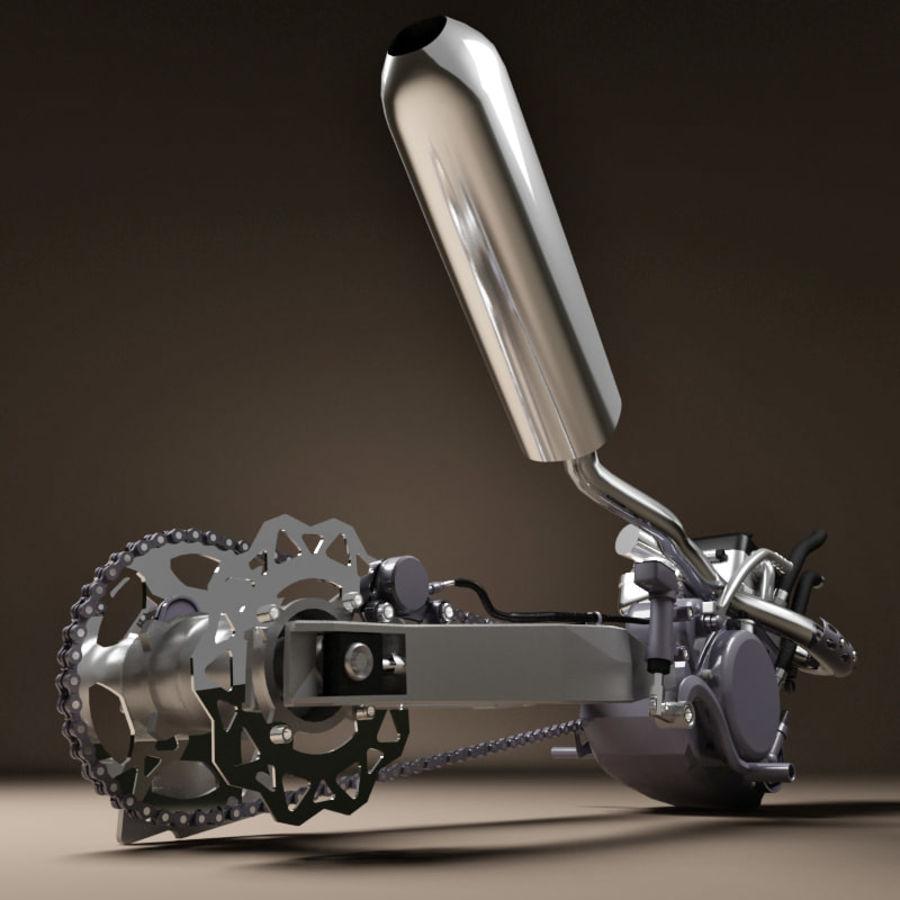 Motorbike engine V2 royalty-free 3d model - Preview no. 6