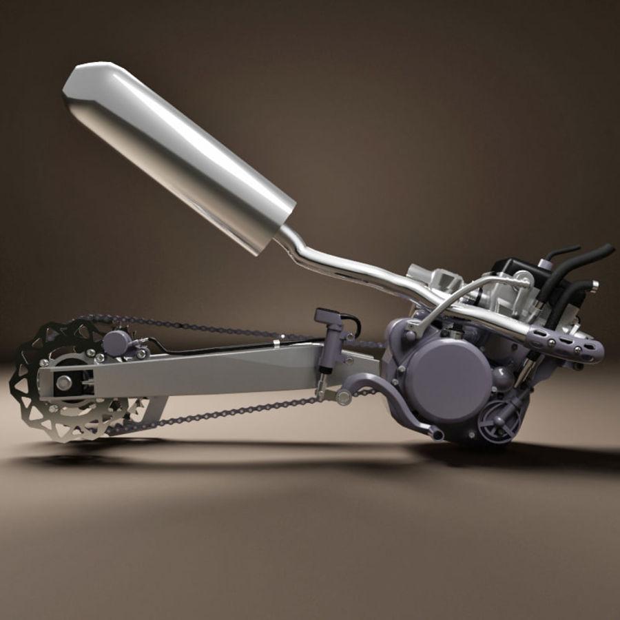 Motorbike engine V2 royalty-free 3d model - Preview no. 4