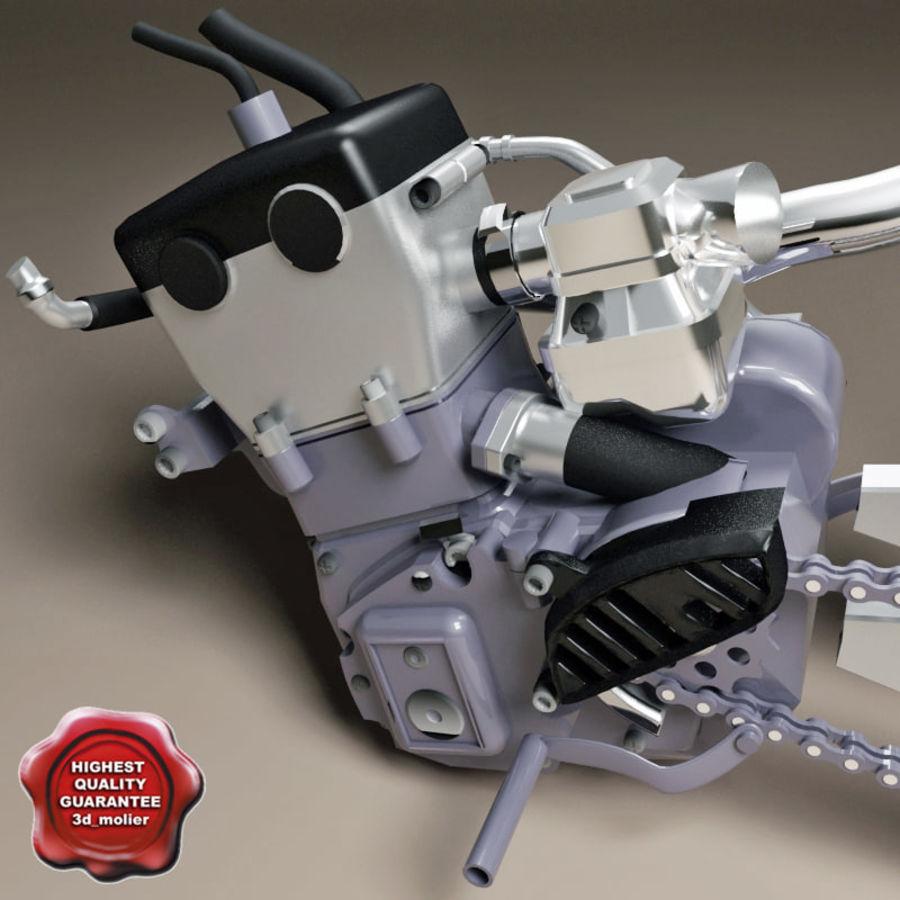 Motorbike engine V2 royalty-free 3d model - Preview no. 1